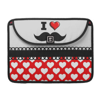 I Love the Mustache Moustache Stache Sleeves For MacBook Pro