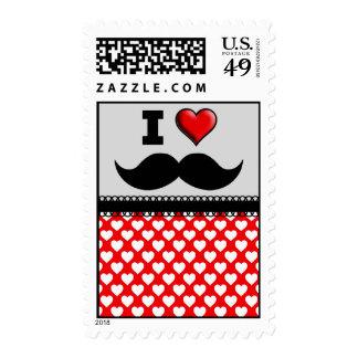 I Love the Mustache Moustache Stache Postage