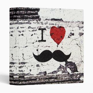 I Love the Mustache Rustic Custom 3 Ring Binders