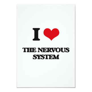 I Love The Nervous System 3.5x5 Paper Invitation Card
