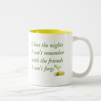 I love the nights I can't remember (Green/Yelllow) Mugs
