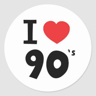 I love the nineties round stickers