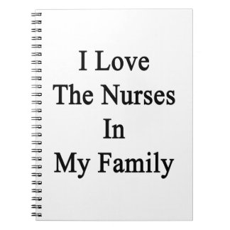 I Love The Nurses In My Family Note Book