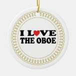 I Love The Oboe Music Christmas Ornament Gift