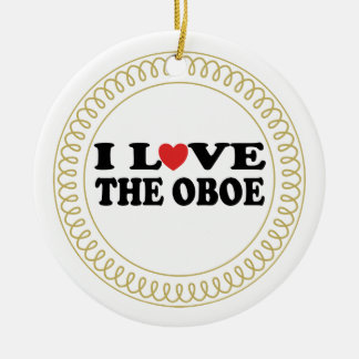 I Love The Oboe Music Christmas Ornament Gift