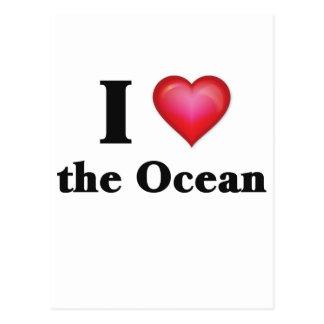 I love the ocean postcard