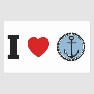 I Love The Ocean, Sea Rectangular Sticker