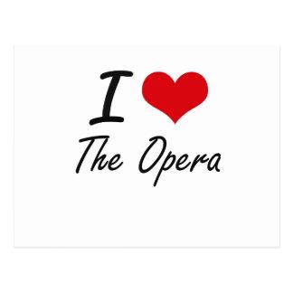 I love The Opera Postcard