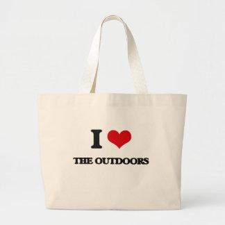 I Love The Outdoors Jumbo Tote Bag
