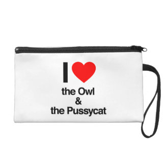 i love the owl and the pussycat wristlet clutches