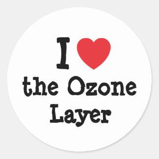 I love the Ozone Layer heart custom personalized Classic Round Sticker