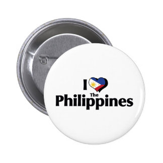 I Love The Phillipines Flag Button