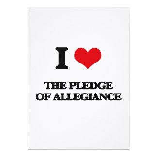 I Love The Pledge Of Allegiance 5x7 Paper Invitation Card