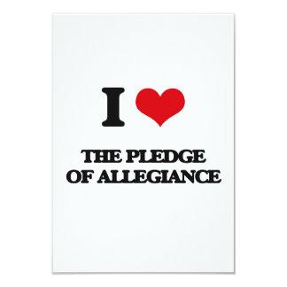 I Love The Pledge Of Allegiance 3.5x5 Paper Invitation Card