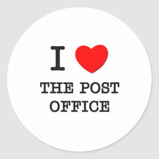 I Love The Post Office Classic Round Sticker