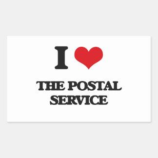 I Love The Postal Service Rectangular Sticker