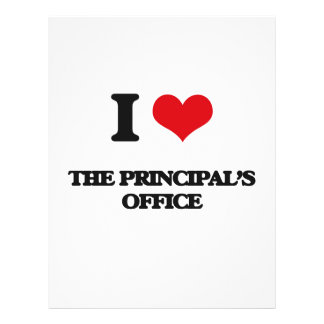 """I Love The Principal'S Office 8.5"""" X 11"""" Flyer"""