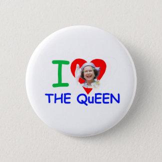I love the Queen - Queen Elizabeth II Button