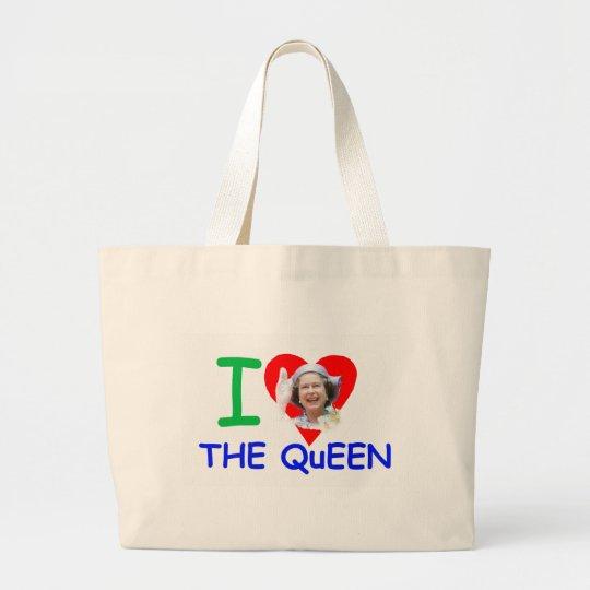 I love the Queen - Queen Elizabeth II Large Tote Bag