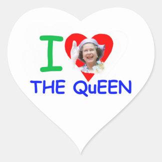 I love the Queen - Queen Elizabeth II Heart Sticker