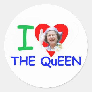 I love the Queen - Queen Elizabeth II Round Stickers