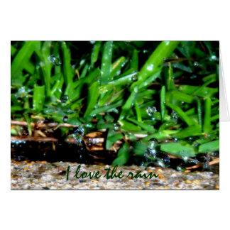I Love The Rain Greeting Card
