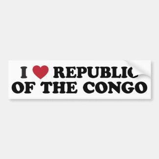 I Love the Republic of the Congo Bumper Sticker
