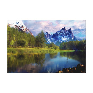 I-Love the Rocky Mountain Oil Painting-on Canvas Canvas Print
