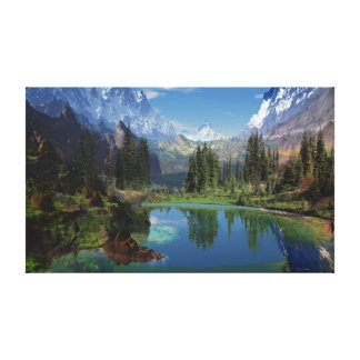I Love the Rocky Mountain Stretched Canvas Print