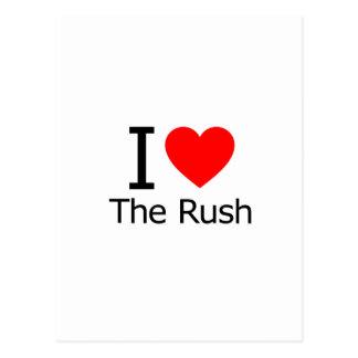 I Love the Rush Postcard