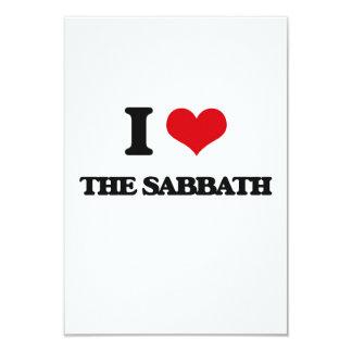 I Love The Sabbath 3.5x5 Paper Invitation Card