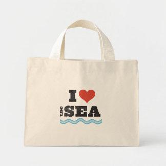 I love the sea mini tote bag