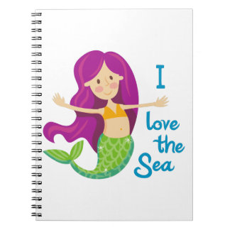 I Love The Sea Spiral Notebook