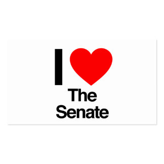i love the senate Double-Sided standard business cards (Pack of 100)
