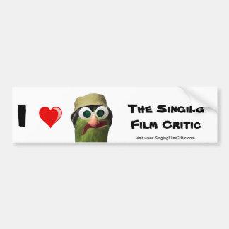 I Love the Singing Film Critic Bumper Sticker