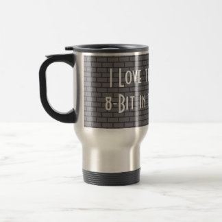 I Love the Smell of 8-Bit in the Morning, Grey Coffee Mugs