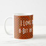 I Love the Smell of 8-Bit in the Morning, Orange Classic White Coffee Mug