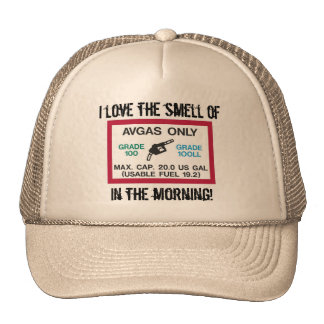 I love the smell of AVGAS in the morning! Hat