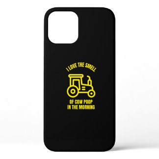 I love the smell of cow poop in the morning iPhone 12 case