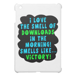 I Love the Smell of Downloads! Funny Geek Joke - B iPad Mini Cases