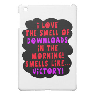 I Love the Smell of Downloads! Funny Geek Joke - R Cover For The iPad Mini