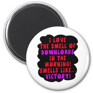 I Love the Smell of Downloads! Funny Geek Joke - R Magnet