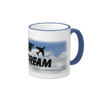 I love the smell of jet fuel in the morning coffee mugs