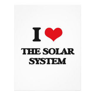 """I love The Solar System 8.5"""" X 11"""" Flyer"""