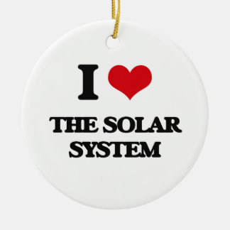 I love The Solar System Double-Sided Ceramic Round Christmas Ornament