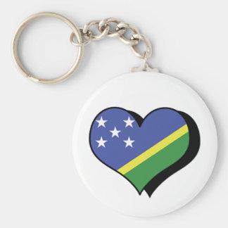 I Love The Solomon Islands Keychain