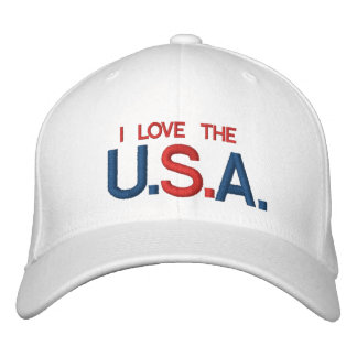 I LOVE THE U.S.A CUSTOMIZABLE CAP @ eZaZZleMan.com