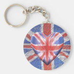 I Love the UK! Key Chain