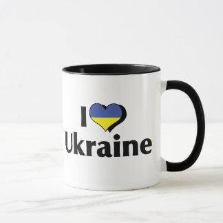 I Love The Ukraine Flag Mug