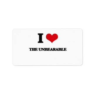 I love The Unbearable Address Label